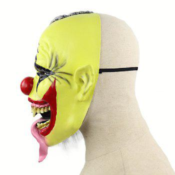 YEDUO Halloween Scary Clown Mask with Hair for Adults Costume Party - GOLDENROD