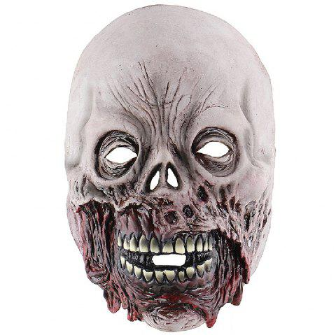 YEDUO Scary Movie Cosplay Halloween Costume Props Devil Masque Zombie Visage Pourri - Gris
