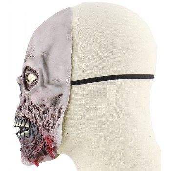 YEDUO Scary Movie Cosplay Halloween Costume Props Devil Mask Zombie Rotten Face - GRAY