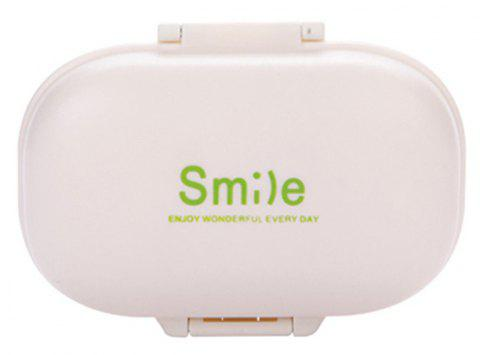 Creative Macaron Portable Four-Cell Mini Medicine Box - WHITE