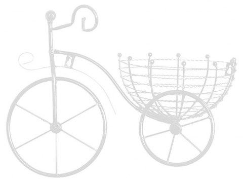European Wrought Iron Bicycle Home Hanging Decorative Flower Basket - WHITE