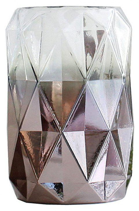 Home Decoration Creative Diamond Handmade Glass Vase Decoration - multicolor A SIZE L