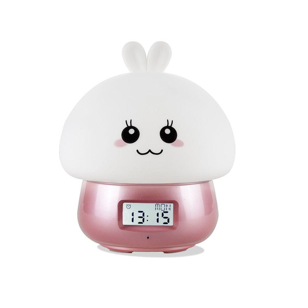 Recording Multi-Function Smart Alarm Clock USB Color Silicone Wake-Up Light - PINK
