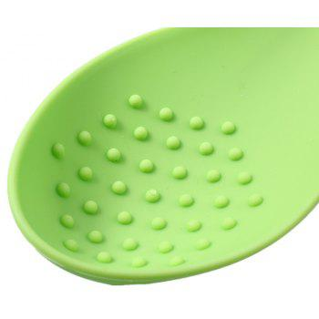 Silicone Spoon Insulation Mat Silicone Heat Resistant Placemat Kitchen Tool - GREEN