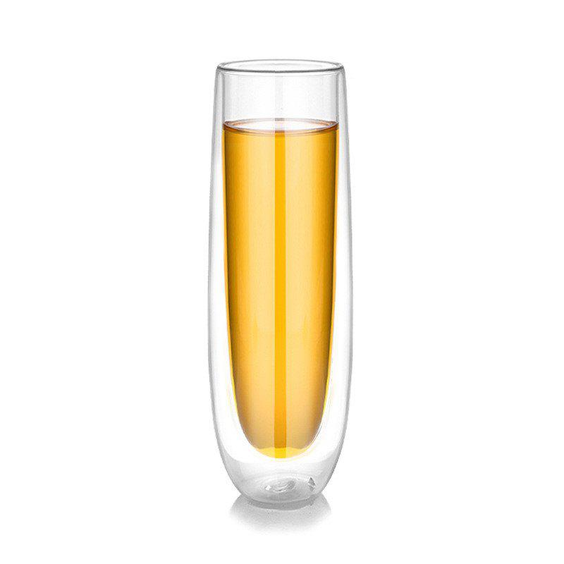 High Borosilicate Beer Glass Double Wall Thicker Structure Coffee Mug - TRANSPARENT