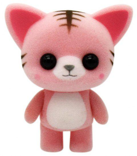 Jouets mignons de chat animal en peluche - Rouge Blush