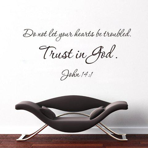 Don't Let Your Heart Carved Wall Sticker Decoration - BLACK