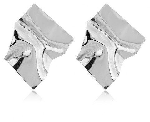 Boucles d'Oreilles Exaggerated Wrinkle Original Style Punk Simple Métal - Argent