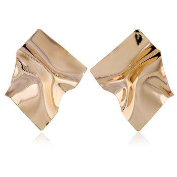 Boucles d'Oreilles Exaggerated Wrinkle Original Style Punk Simple Métal - Or