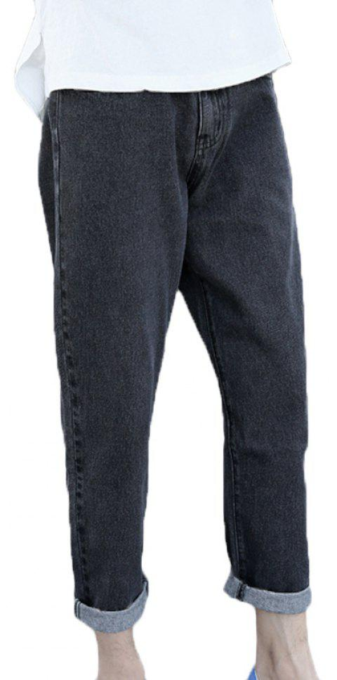 Men's Fashion Baggy Jeans - BLACK 29