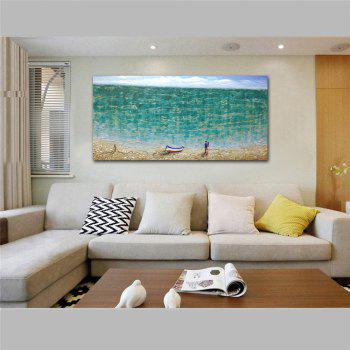 STYLEDECOR Modern Hand Painted Abstract The Beach Lovers Oil Painting on Canvas - multicolor 39 X 19 INCH (100CM X 50CM)