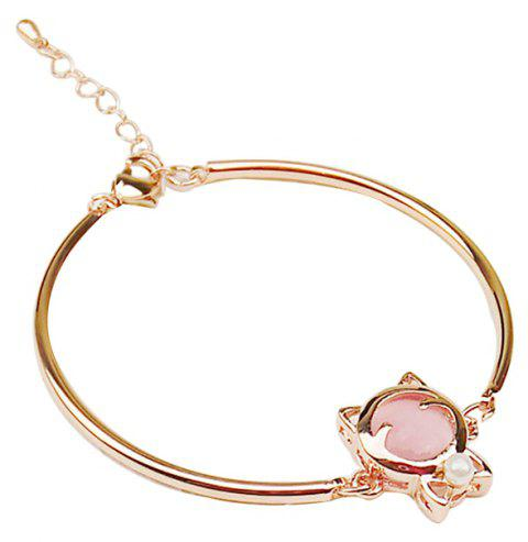 Fashionable Personality Cat Cat Eye Stone Bracelet - PINK BUBBLEGUM