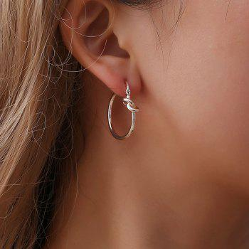 Fashion Simple Sweet Character Knot Exquisite Circle Earring Accessories - GOLD