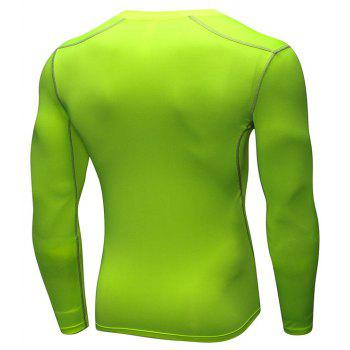 Men's Training Sports Fitness Running Quick Drying Long Sleeve T-Shirt - GREEN 3XL