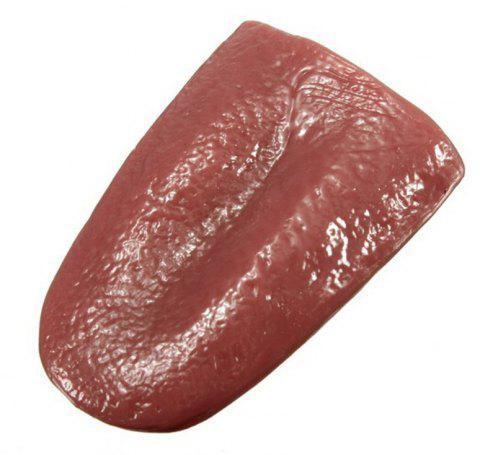 Simulates Tongue Terror Prop Tricky Toy - RED WINE