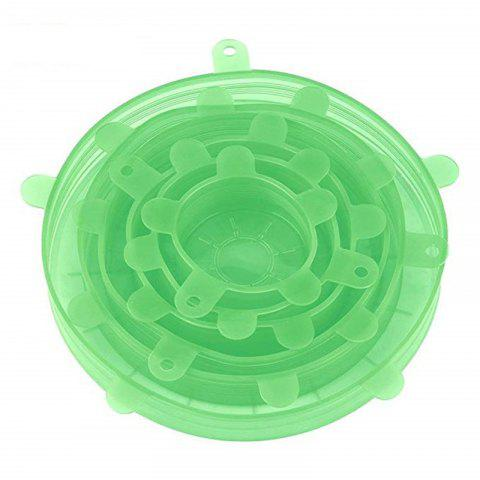 Silicone Lids for Bowls Cups Food Cover 6PCS - LIGHT JADE