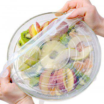 Couvercles en silicone pour bols Cups Food Cover 6PCS - Transparent