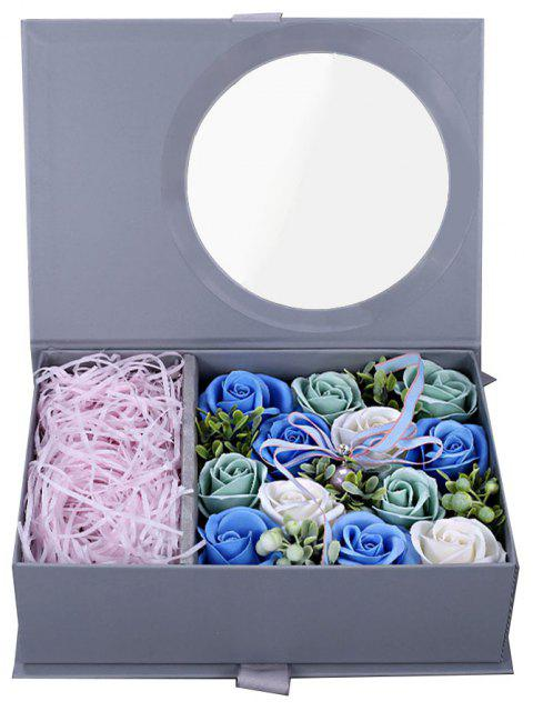 Valentine Day Girlfriends Romantic Birthday Rose Soap Flower Gift Box - multicolor C