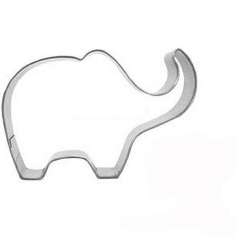 Elephant Animal Cookie Cutter Stainless Steel Cake Baking Biscuit Pastry Mould - SILVER