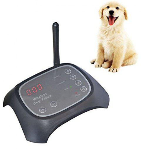 Wireless Dog Fence Rechargeable Adjustable Radio Frequency Electric Pet Trainer - BLACK AU