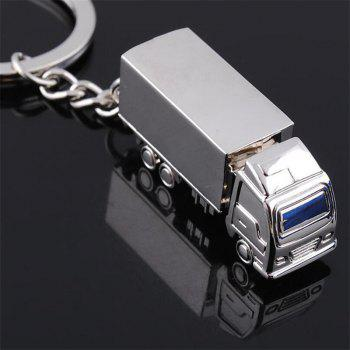 Metal Creative Gift Solid Truck Keychain - SILVER