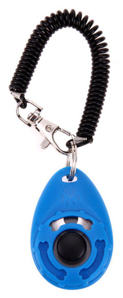 Pet Training Dog Clicker Adjustable Sound Key Chain And Wrist Strap Doggy Train - DODGER BLUE