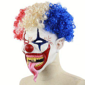 YEDUO Joker Creepy Evil Scary Halloween Clown Mask Adult Ghost Festival - multicolor
