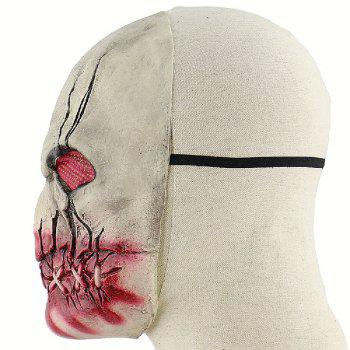 YEDUO Bloody Rotten Mouth Zombie Terreur Latex Halloween Masque - gris