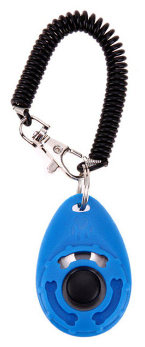 Pet Trainer Training Dog Clicker Adjustable Sound Key Chain and Wrist - GLACIAL BLUE ICE