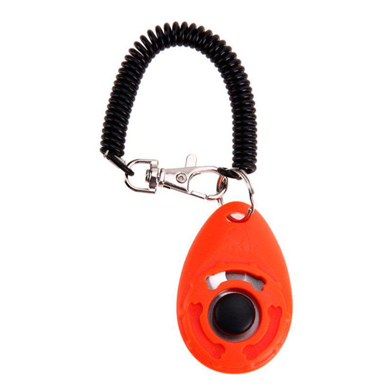 Pet Trainer Training Dog Clicker Adjustable Sound Key Chain and Wrist - BEAN RED