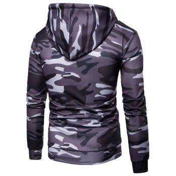 Men's   Spring Autumn   Camouflage Hooded Jacket - DARK GRAY L