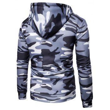 Men's   Spring Autumn   Camouflage Hooded Jacket - LIGHT GRAY 2XL