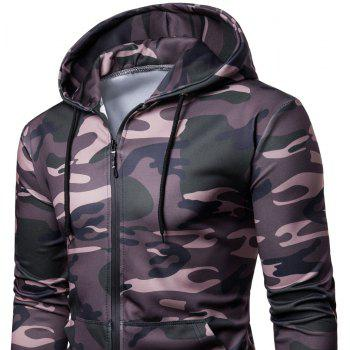 Men's   Spring Autumn   Camouflage Hooded Jacket - JUNGLE GREEN XL