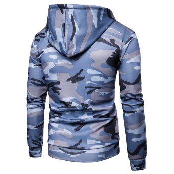 Men's   Spring Autumn   Camouflage Hooded Jacket - BLUE 3XL