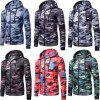 Men's   Spring Autumn   Camouflage Hooded Jacket - RED XL
