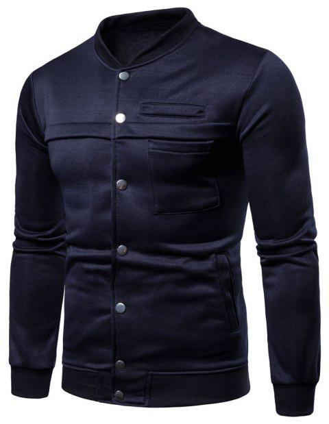 Spring  Autumn Men's   Fashion Slim Stand Collar Coat - CADETBLUE XL