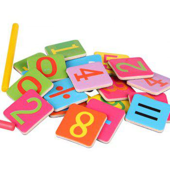 Wooden Stick Magnetic Mathematics Puzzle Education Number Toy - multicolor