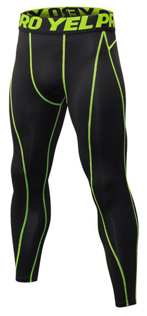 Men's Fitness Running Breathable Quick-Drying Stretch Sweatpants - GREEN S