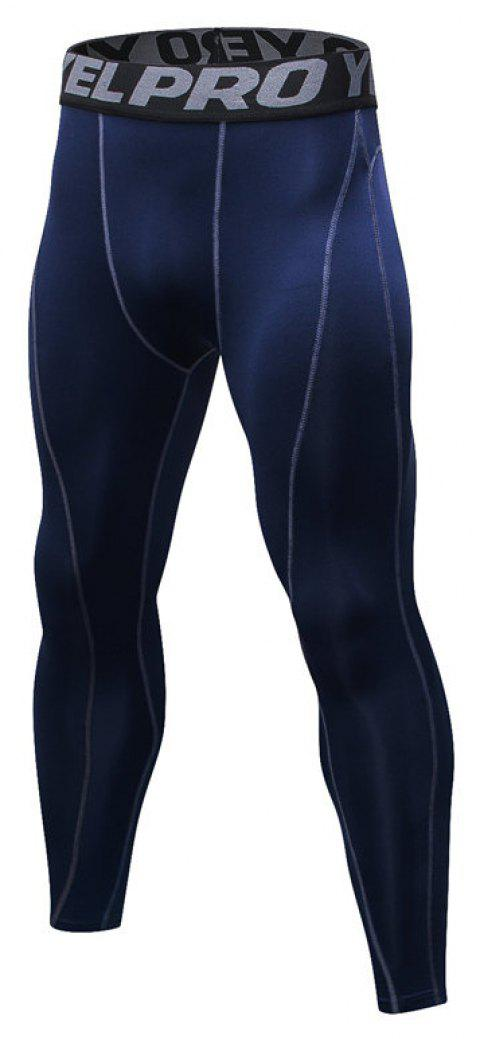 Men's Fitness Running Breathable Quick-Drying Stretch Sweatpants - CADETBLUE M