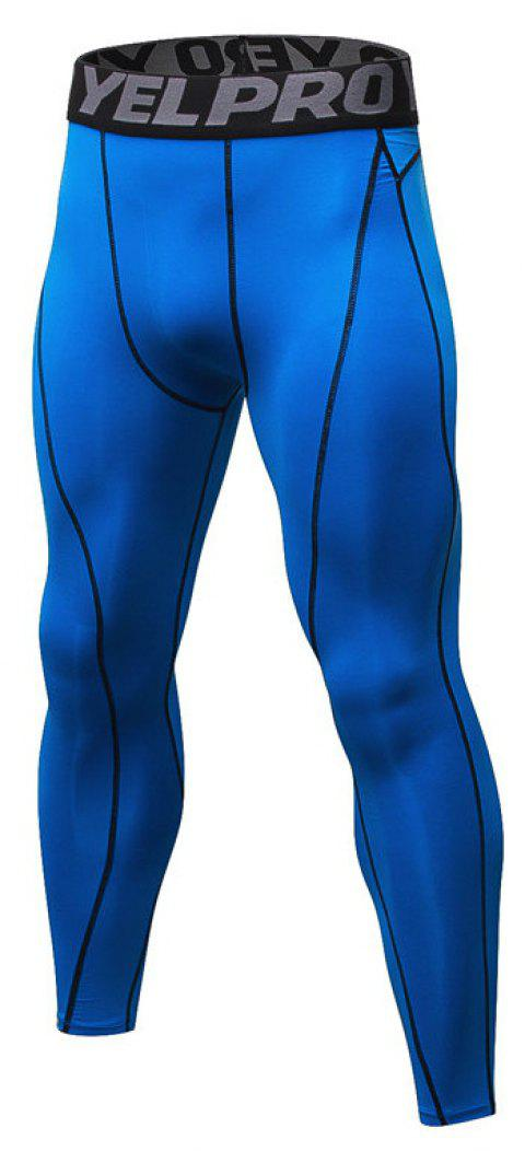 Men's Fitness Running Breathable Quick-Drying Stretch Sweatpants - BLUE 2XL