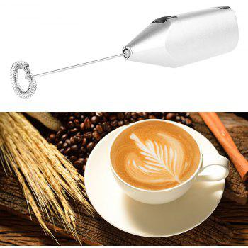 Kitchen Electric Handle Coffee Milk Egg Beater Frother Cream Foamer Cappuccino - SILVER