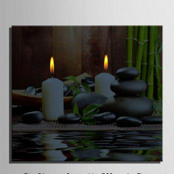 Stretched LED Canvas Print Art The Candle Flash - multicolor 20 X 28 INCH (50CM X 70CM)