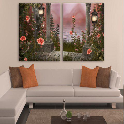 Stretched LED Canvas Print Art The Rose Flash - multicolor 20 X 28 INCH (50CM X 70CM)