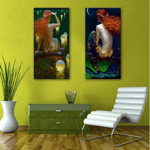 Stretched LED Canvas Print Art The Girls Back Flash - multicolor 12 X 35 INCH (30CM X 90CM)