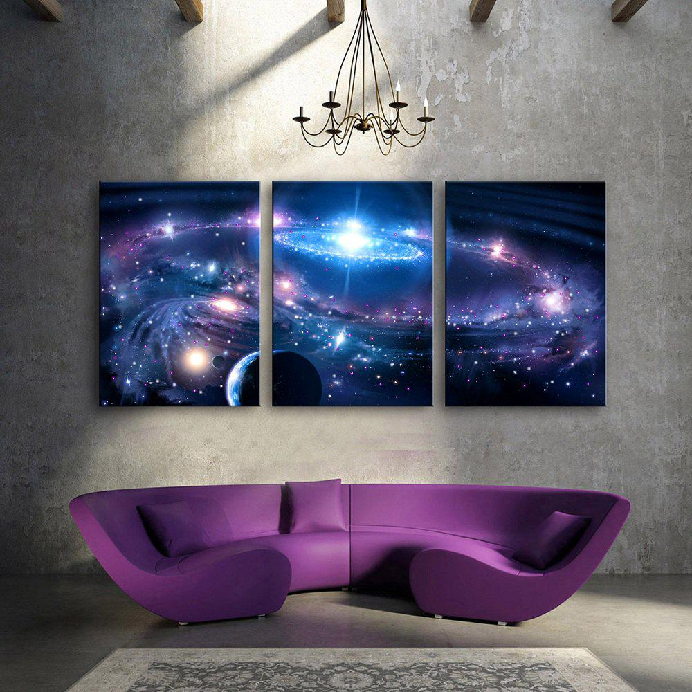 Stretched led canvas print art the solar system flashing multicolor 16 x 24 inch