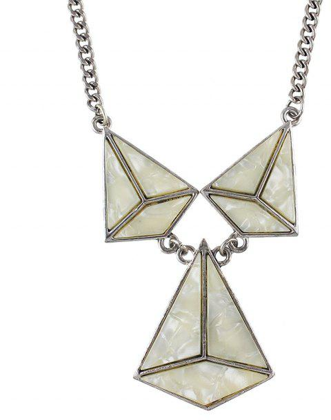 Fashion Acrylic Geometric Big Statement Necklace for Women - BEIGE