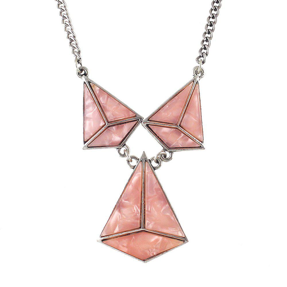 Fashion Acrylic Geometric Big Statement Necklace for Women - MISTY ROSE