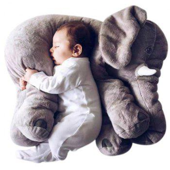 Infant Soft Appease Elephant Playmate Calm Doll Baby Toy - GRAY WOLF