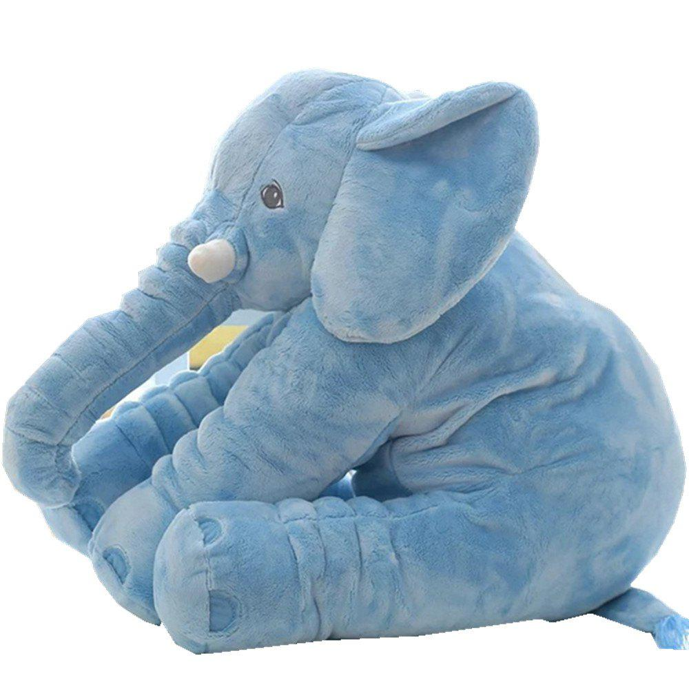 Infant Soft Appease Elephant Playmate Calm Doll Baby Toy - BLUE DRESS