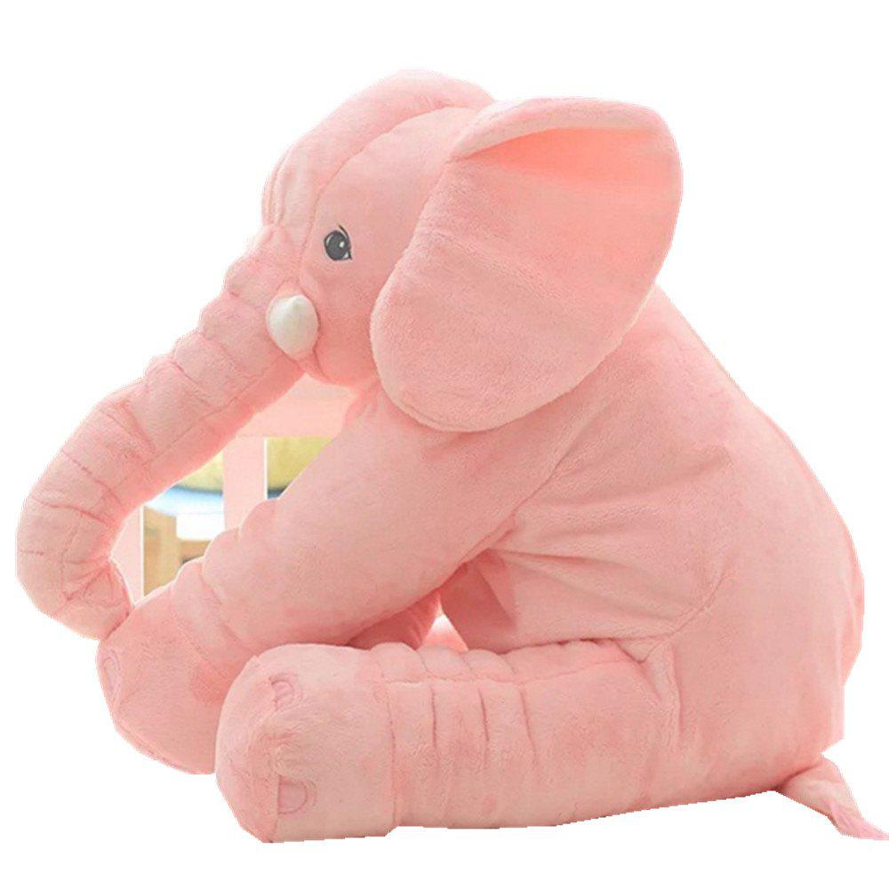 Infant Soft Appease Elephant Playmate Calm Doll Baby Toy - ROSE